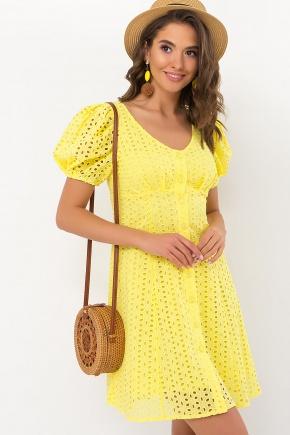 Платье Эдна к/р. Цвет: желтый