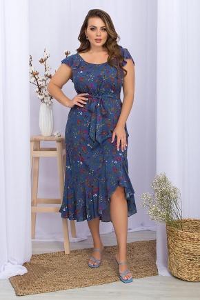 Сарафан Шания-1Б. Колір: джинс-разноцв.цветы