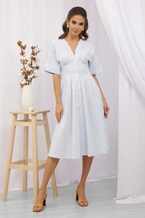 Платье Нерия к/р. Цвет: голубая полоска