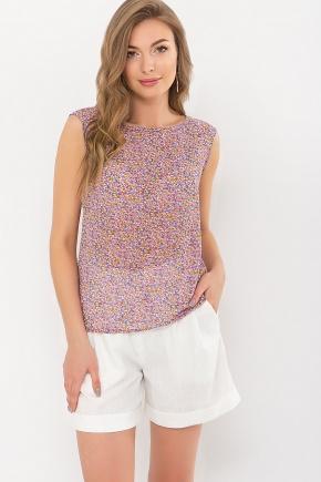 Блуза Виринея б/р. Цвет: сиреневый-оранж.м.цветы