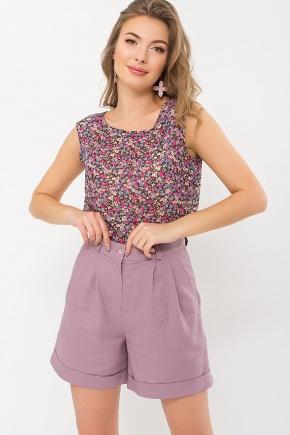 Блуза Виринея б/р. Цвет: коричневый-ягодки