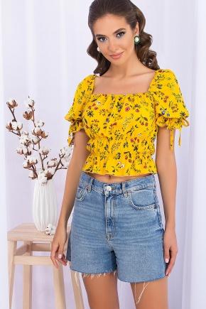 Топ Паллада к/р. Цвет: желтый-разноцв.цветы