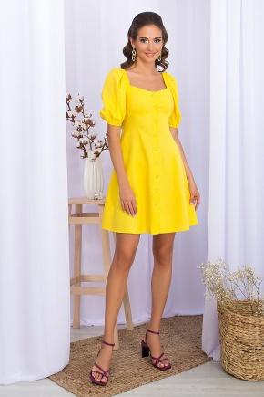 Платье Абелия к/р. Цвет: желтый