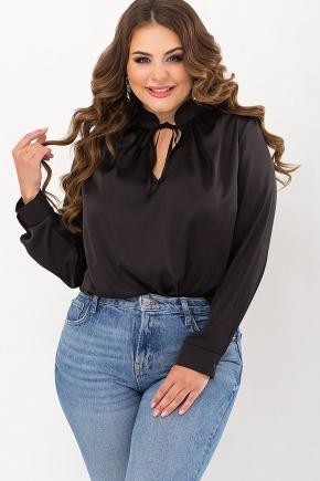 Блуза Калипса-Б д/р. Цвет: черный