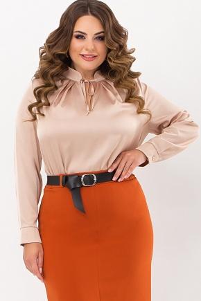 Блуза Калипса-Б д/р. Цвет: св. бежевый
