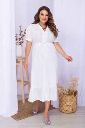 Платье Хайли-1Б к/р. Цвет: белый