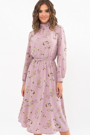 Платье Азами д/р. Цвет: лиловый-цветы-ягоды