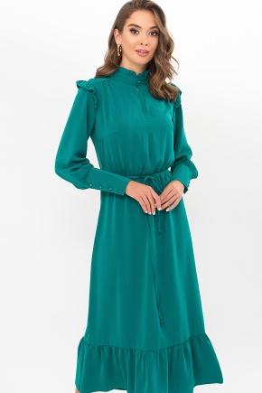 Платье Фернанда д/р. Цвет: изумруд