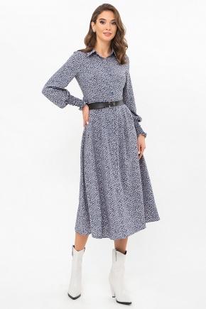 Платье Кария д/р. Цвет: джинс-разноцв.пятна