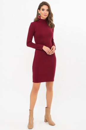 Платье-гольф Алена2 д/р. Цвет: бордо