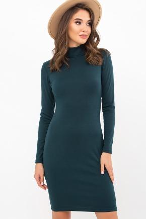 Платье-гольф Алена2 д/р. Цвет: изумруд