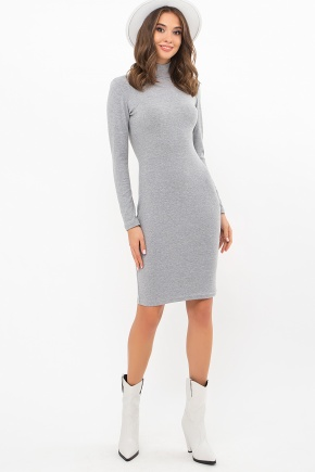 Платье-гольф Алена2 д/р. Цвет: серый