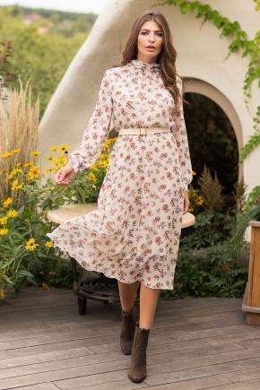 Платье Вита д/р. Цвет: молоко-букет Роз