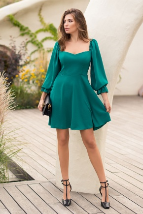 Платье Акусма д/р. Цвет: изумруд