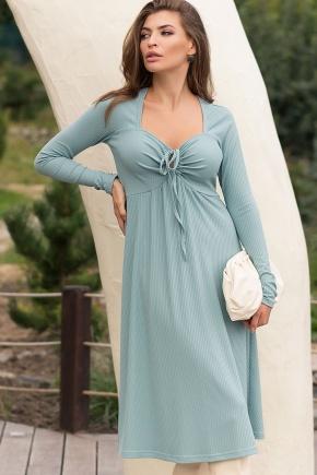Платье Барум д/р. Цвет: св.бирюзовый