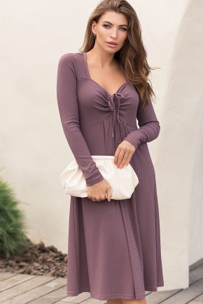 Платье Барум д/р. Цвет: т. лиловый