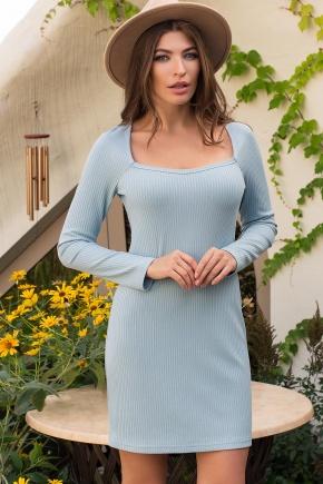 Платье Осилия д/р. Цвет: голубой