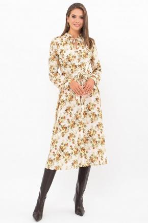 Платье Сардиния д/р. Цвет: белый-букет