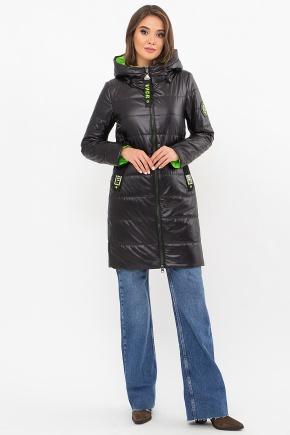 Куртка 073. Колір: 01-черный-зеленый