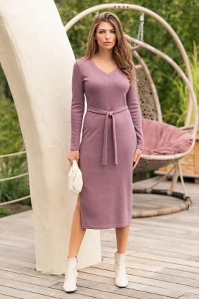 Платье Пина д/р. Цвет: т. лиловый