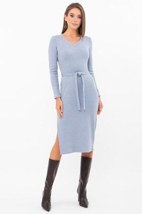Платье Пина д/р. Цвет: голубой