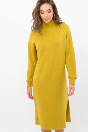 Платье Галарена д/р. Цвет: горчица