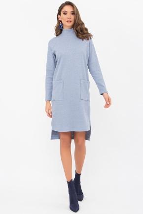 Платье Лакси д/р. Цвет: голубой