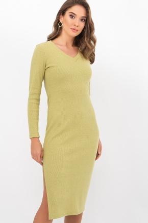 Платье Пина д/р. Цвет: оливковый