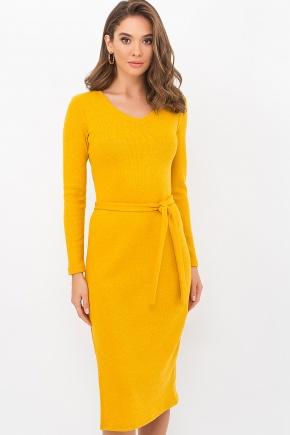 Платье Пина д/р. Цвет: горчица
