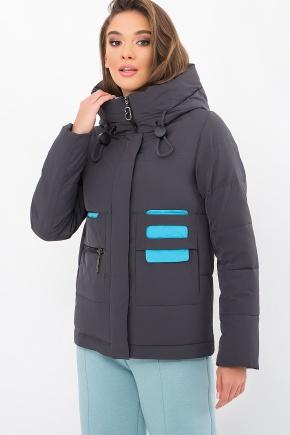 Куртка М-2178. Цвет: 28-графит-голубой