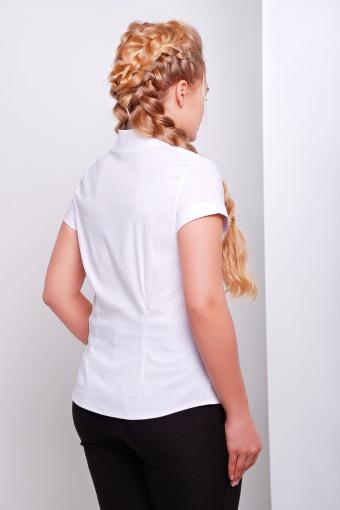 белая блузка большого размера. Блуза Марта-Б к/р. Цвет: белый цена