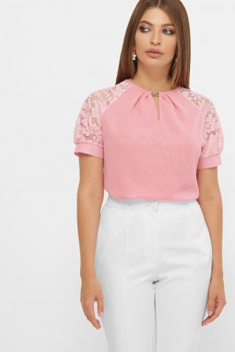 персиковая блузка с коротким рукавом. Блуза Ильва к/р. Цвет: персик цена