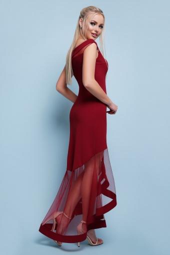 вечернее персиковое платье. Платье Ингрид б/р. Цвет: бордо цена