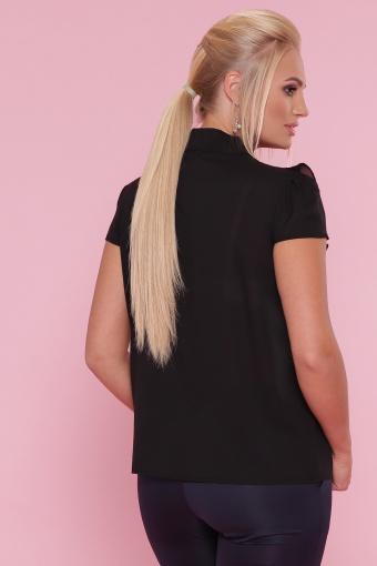 черная блузка батал. Блуза Федерика-Б к/р. Цвет: черный цена