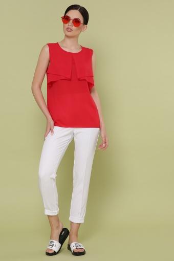красная блузка без рукавов. Блуза Юлия к/р. Цвет: красный в интернет-магазине