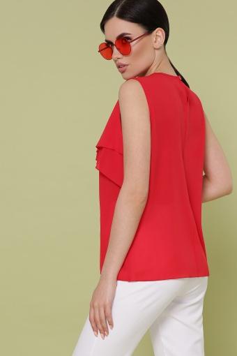 красная блузка без рукавов. Блуза Юлия к/р. Цвет: красный в Украине