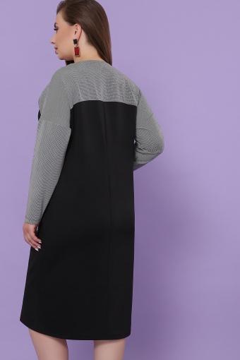 синее платье батал. Платье Джоси-Б д/р. Цвет: черный-лапка м.черная в Украине