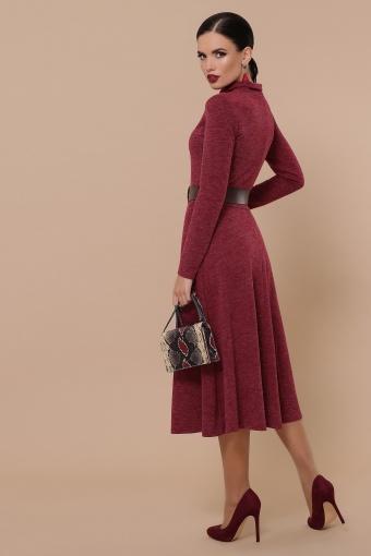 платье из ангоры коричневого цвета. Платье Ава д/р. Цвет: бордо в Украине
