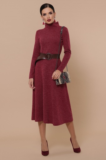платье из ангоры коричневого цвета. Платье Ава д/р. Цвет: бордо купить