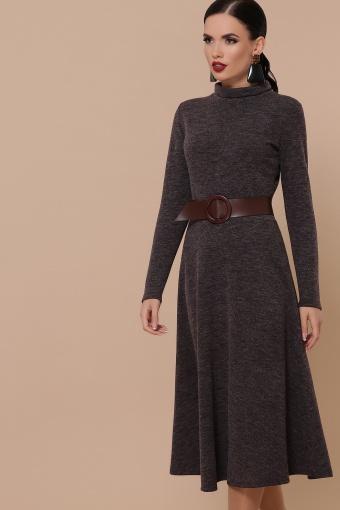 платье из ангоры коричневого цвета. Платье Ава д/р. Цвет: шоколад цена