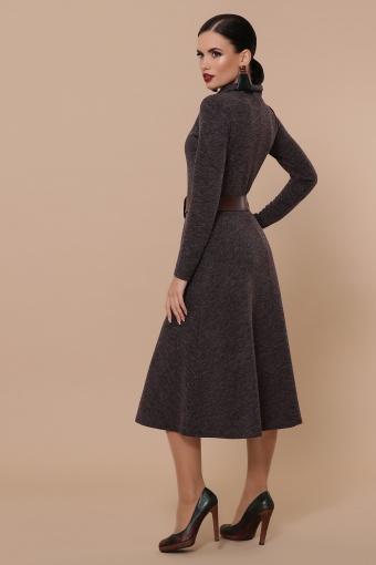 платье из ангоры коричневого цвета. Платье Ава д/р. Цвет: шоколад в интернет-магазине