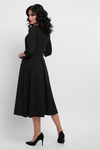 черное платье с цветочным принтом. Орнамент Платье Вилора П д/р. Цвет: черный в Украине