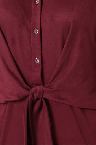 замшевое платье цвета пудры. Платье Мерида д/р. Цвет: бордо недорого