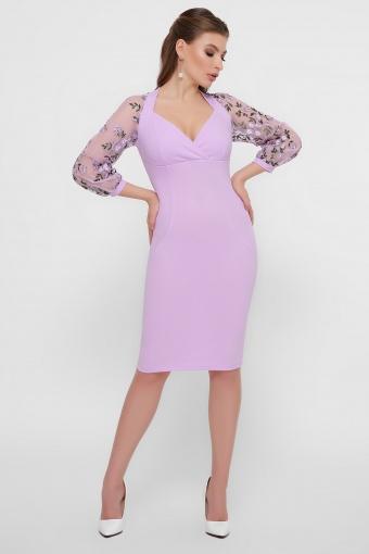 нарядное лавандовое платье. Платье Флоренция В д/р. Цвет: лавандовый 1 цена