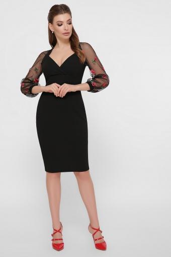 нарядное лавандовое платье. Платье Флоренция В д/р. Цвет: черный 1 цена