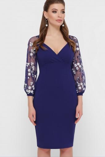 нарядное лавандовое платье. Платье Флоренция В д/р. Цвет: синий купить