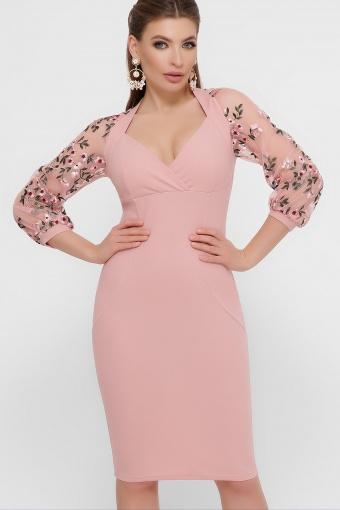 нарядное лавандовое платье. Платье Флоренция В д/р. Цвет: персик в интернет-магазине