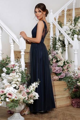 лиловое вечернее платье. Платье Вайнона б/р. Цвет: синий в интернет-магазине