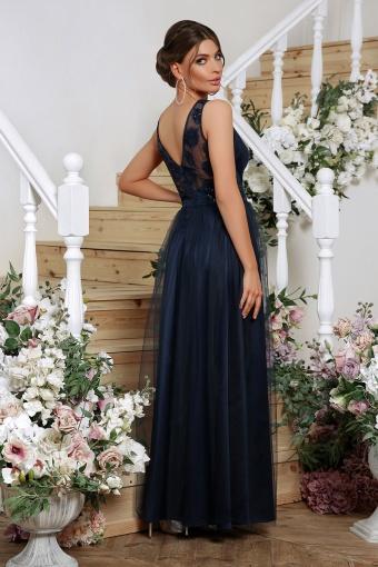 лиловое вечернее платье. Платье Вайнона б/р. Цвет: синий в Украине