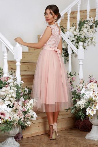 пышное платье миди. Платье Джуди б/р. Цвет: персик в Украине